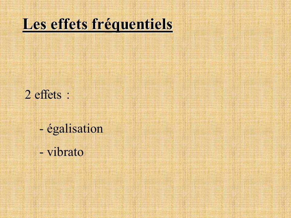 Les effets fréquentiels