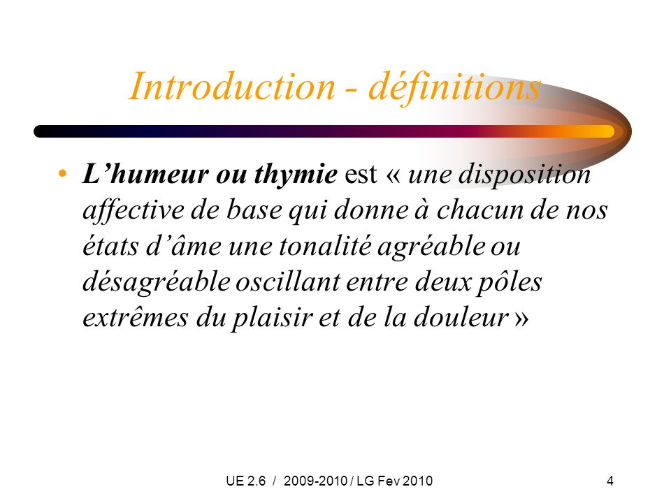 Introduction - définitions
