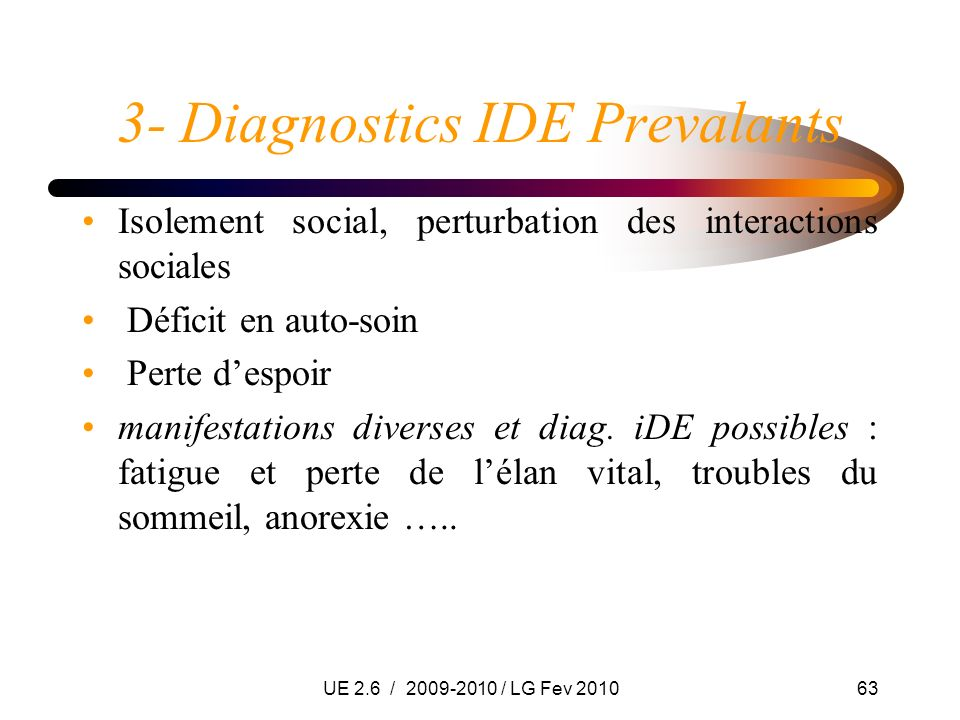 3- Diagnostics IDE Prevalants