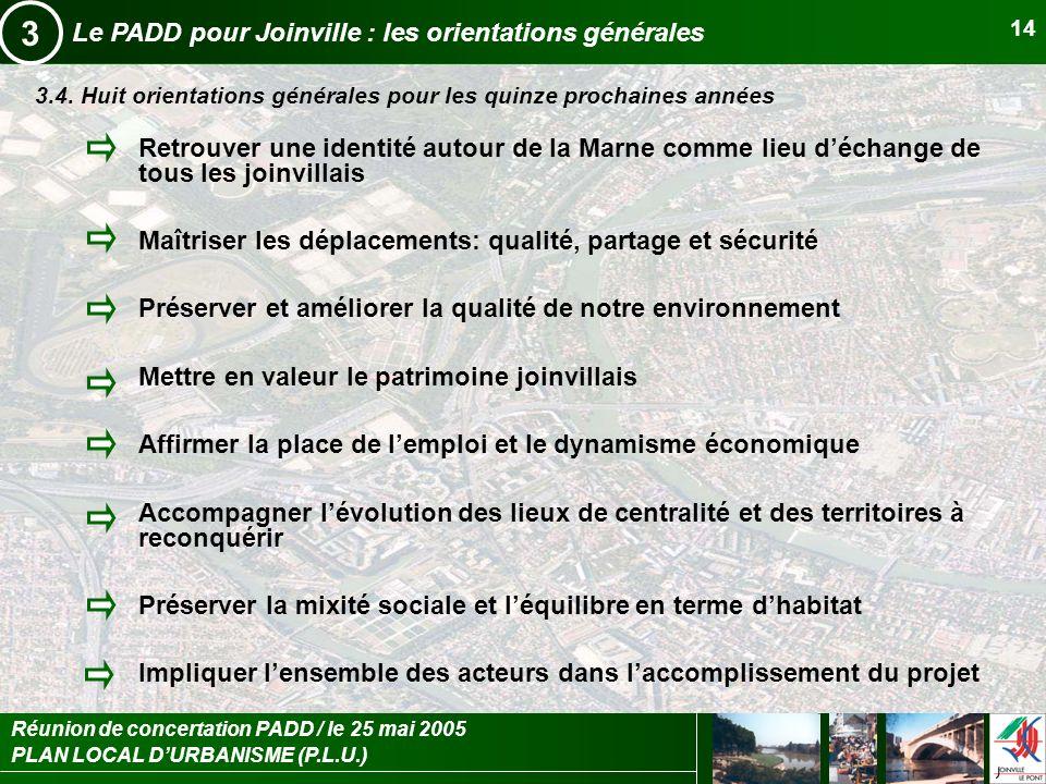 3 Le PADD pour Joinville : les orientations générales