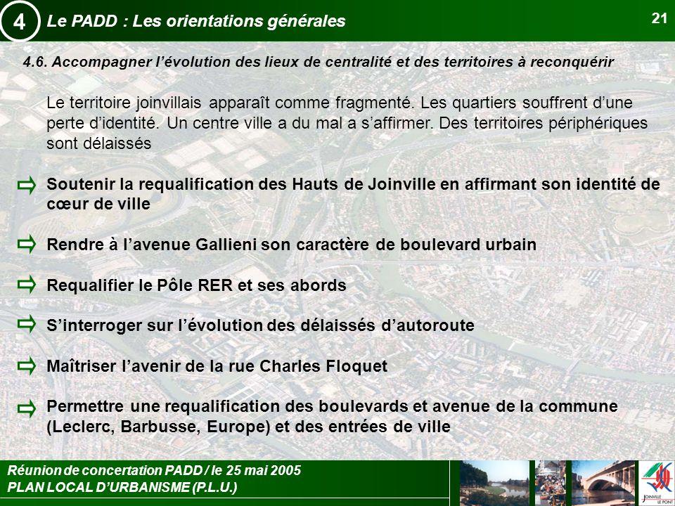 4 Le PADD : Les orientations générales