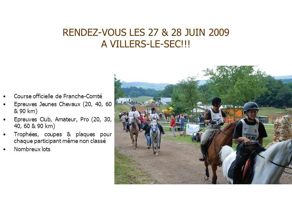 RENDEZ-VOUS LES 27 & 28 JUIN 2009 A VILLERS-LE-SEC!!!