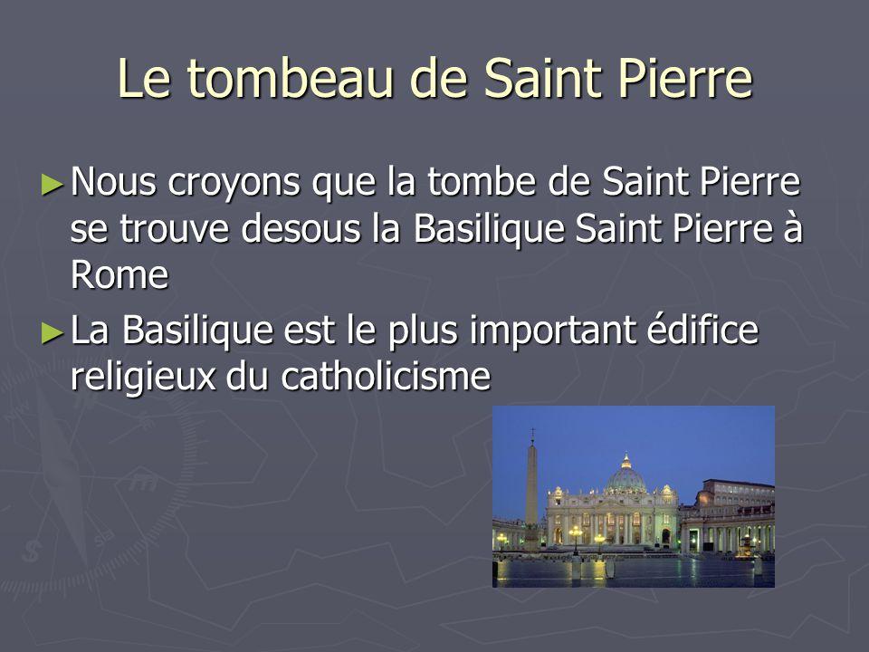 Le tombeau de Saint Pierre