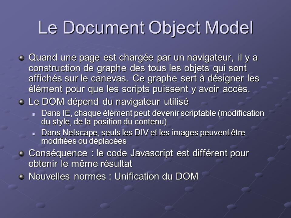 Le Document Object Model