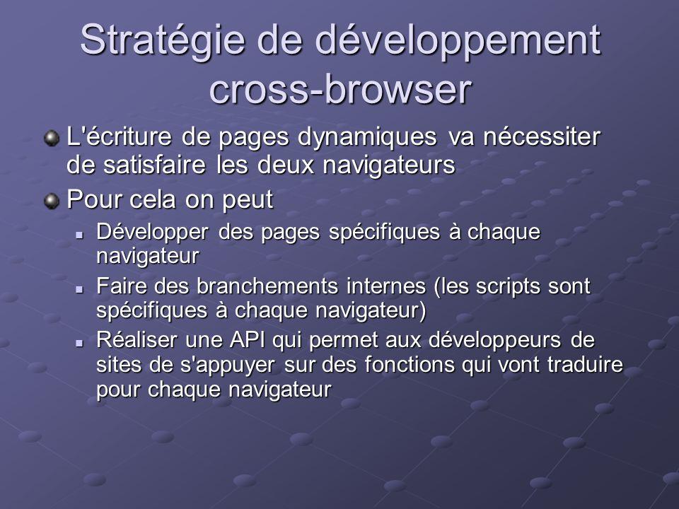 Stratégie de développement cross-browser