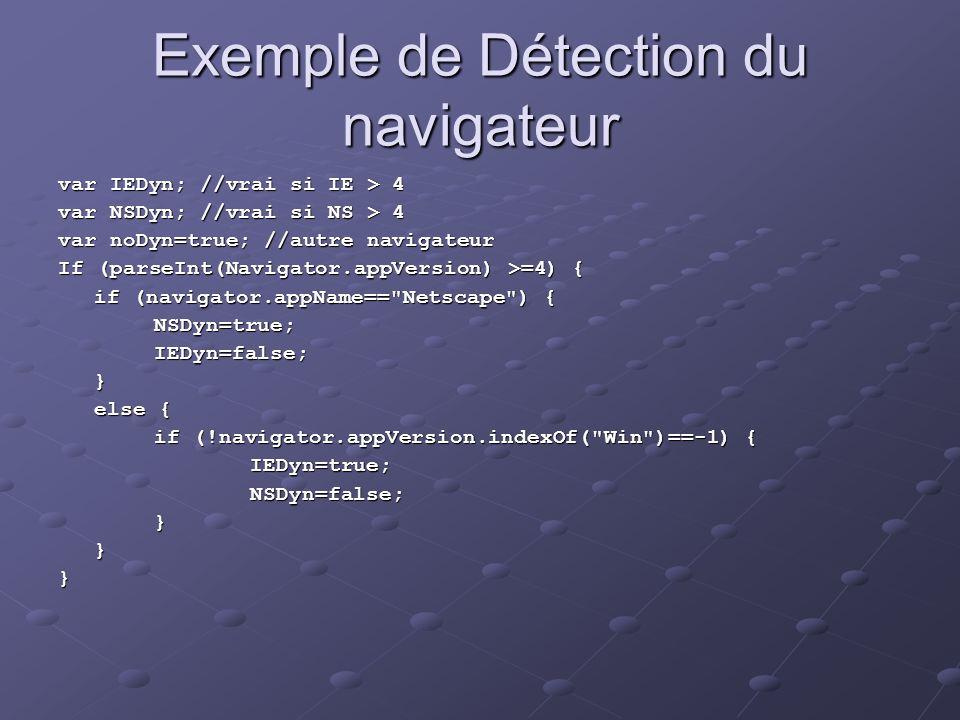 Exemple de Détection du navigateur