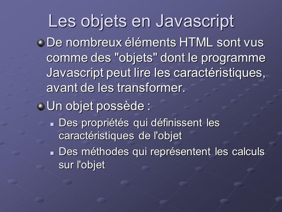 Les objets en Javascript