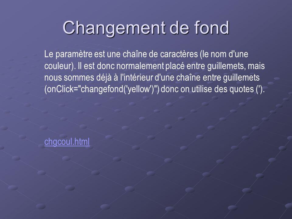 Changement de fond