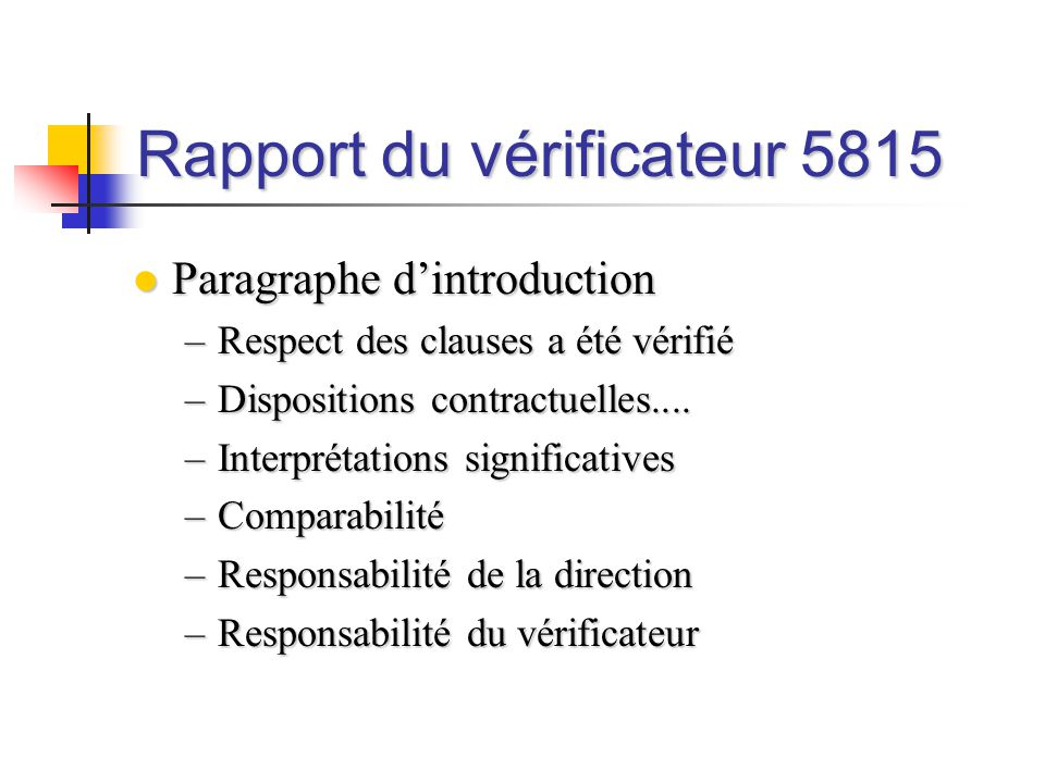 Rapport du vérificateur 5815