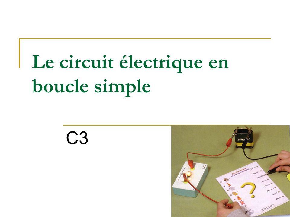 Le circuit électrique en boucle simple