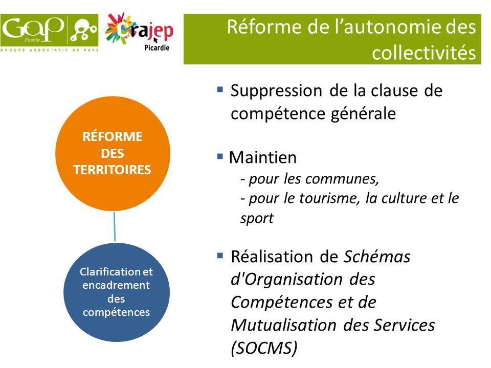 Réforme de l'autonomie des collectivités