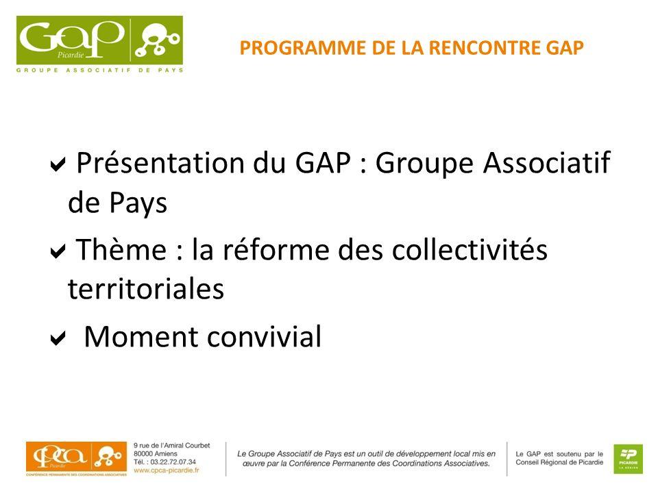 PROGRAMME DE LA RENCONTRE GAP