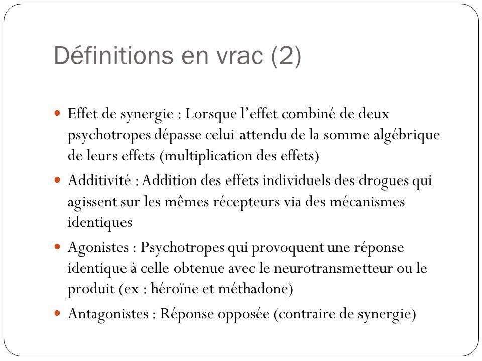 Définitions en vrac (2)