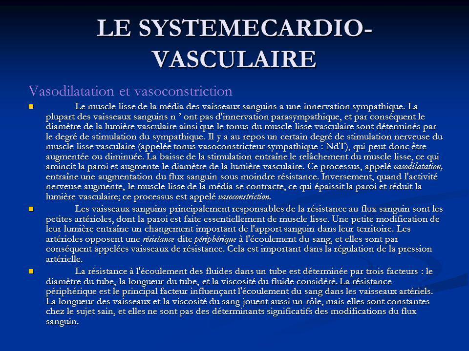 LE SYSTEMECARDIO-VASCULAIRE