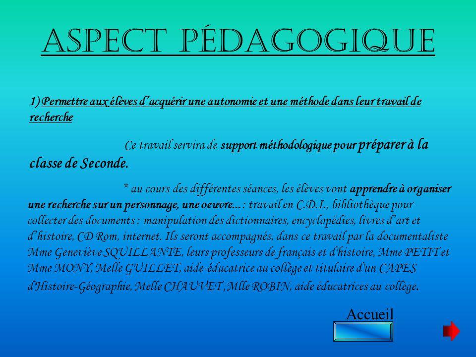 Aspect pédagogique Accueil