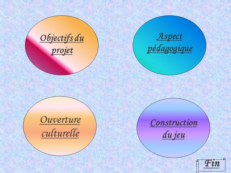 Ouverture culturelle Fin Aspect pédagogique Objectifs du projet