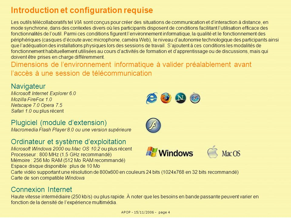 Introduction et configuration requise