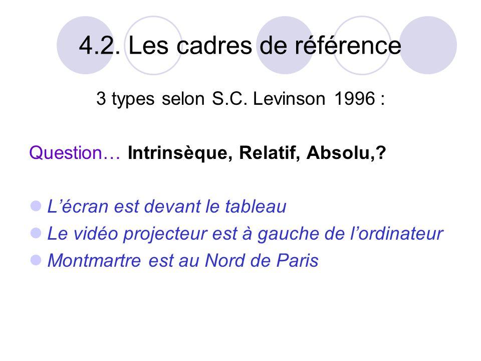 4.2. Les cadres de référence