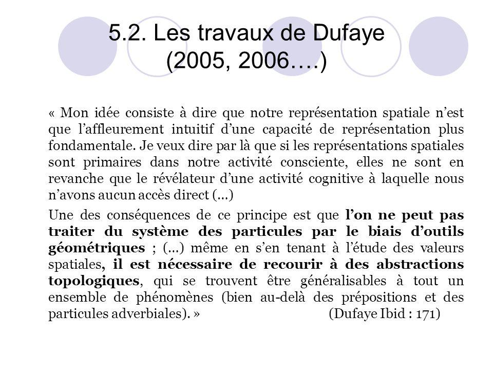 5.2. Les travaux de Dufaye (2005, 2006….)