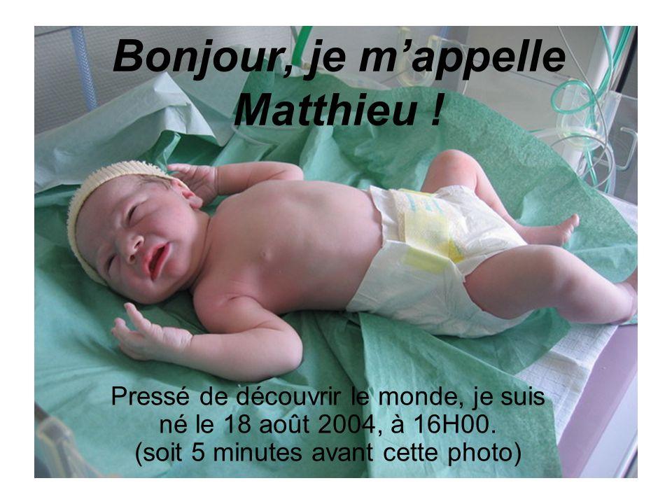 Bonjour, je m'appelle Matthieu !