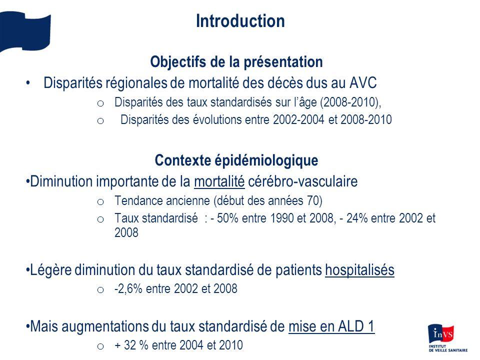 Introduction Objectifs de la présentation
