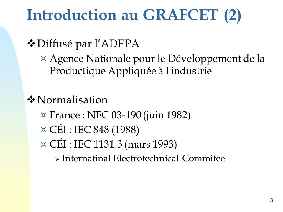 Introduction au GRAFCET (2)