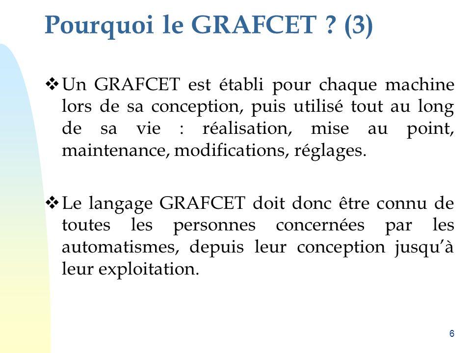 Pourquoi le GRAFCET (3)
