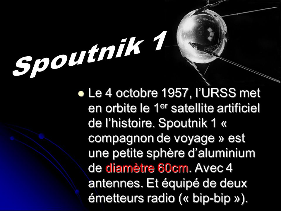 Spoutnik 1Spoutnik 1.