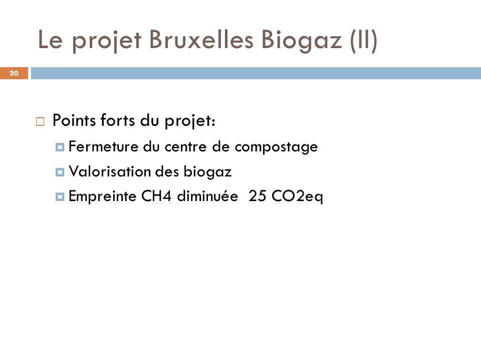 Le projet Bruxelles Biogaz (II)