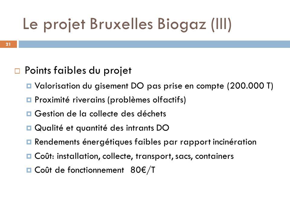 Le projet Bruxelles Biogaz (III)