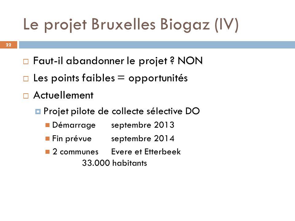 Le projet Bruxelles Biogaz (IV)