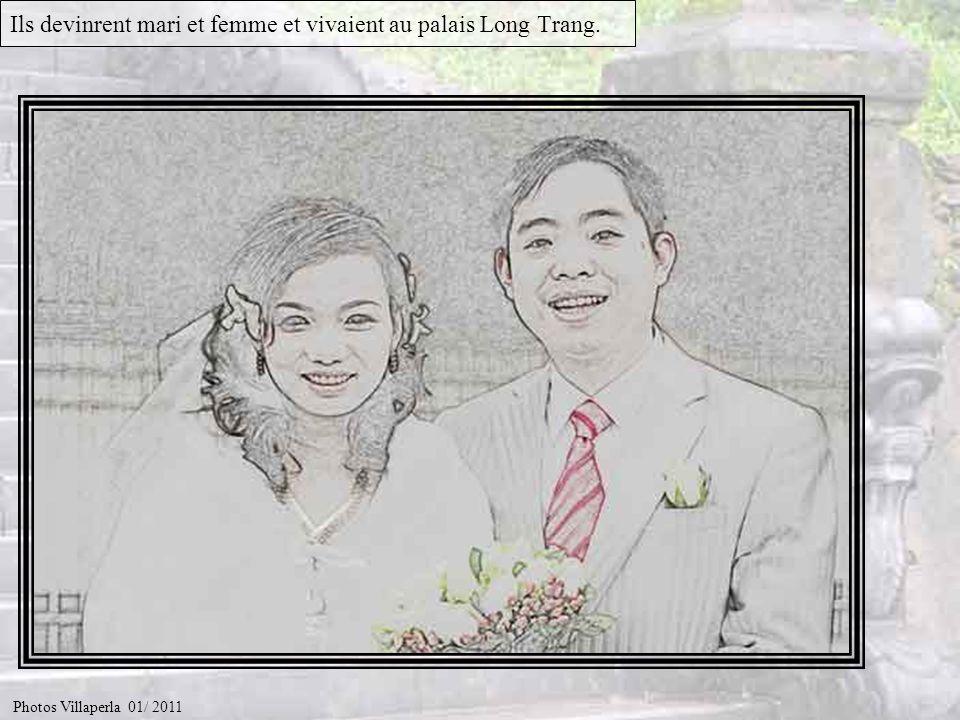 Ils devinrent mari et femme et vivaient au palais Long Trang.