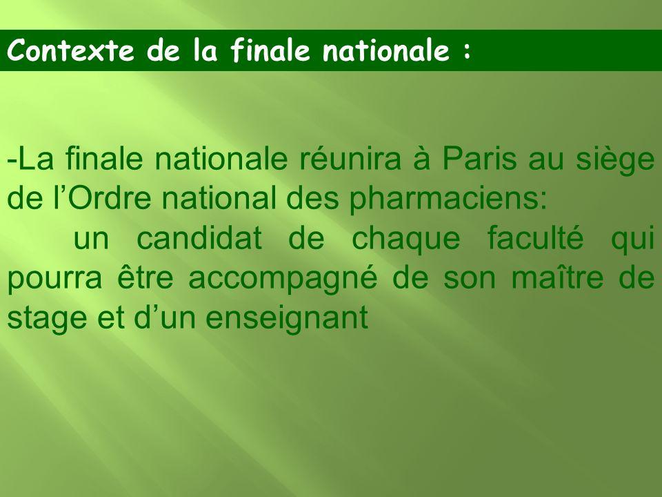 Contexte de la finale nationale :