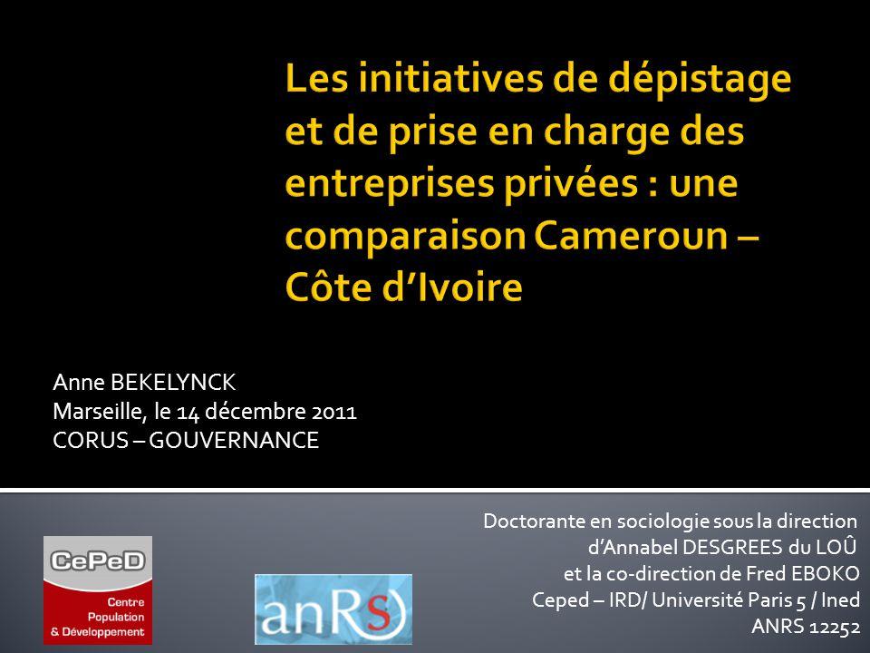 Les initiatives de dépistage et de prise en charge des entreprises privées : une comparaison Cameroun – Côte d'Ivoire