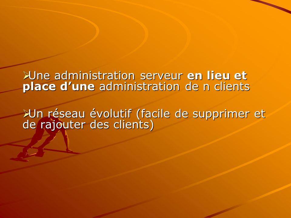 Une administration serveur en lieu et place d'une administration de n clients