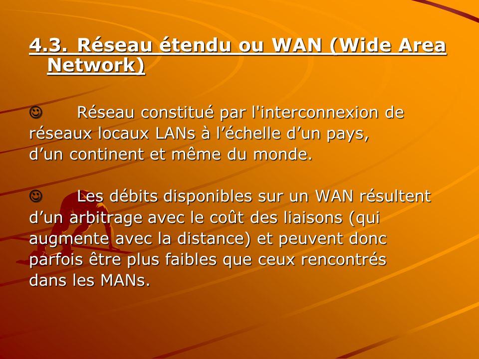 4.3. Réseau étendu ou WAN (Wide Area Network)