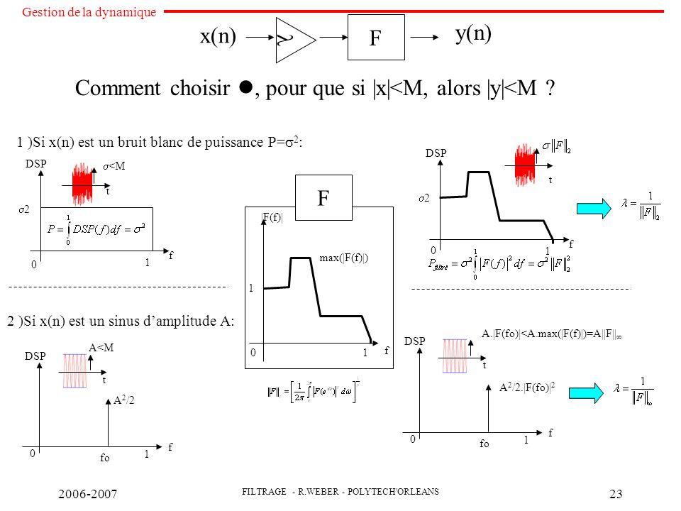 Comment choisir , pour que si |x|<M, alors |y|<M
