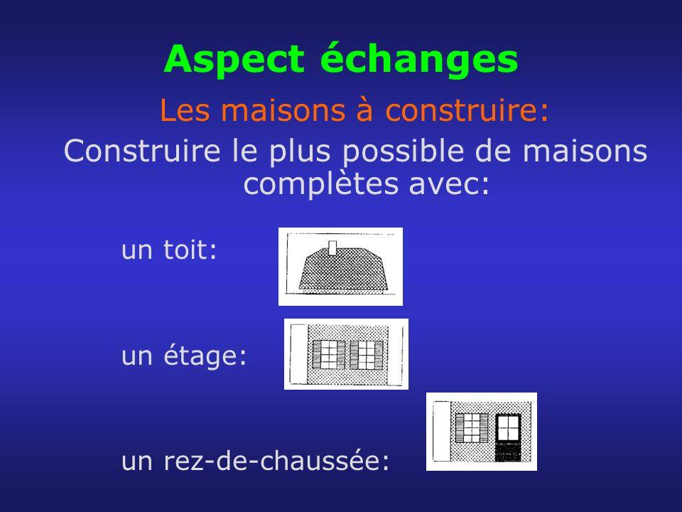 Aspect échanges Les maisons à construire:
