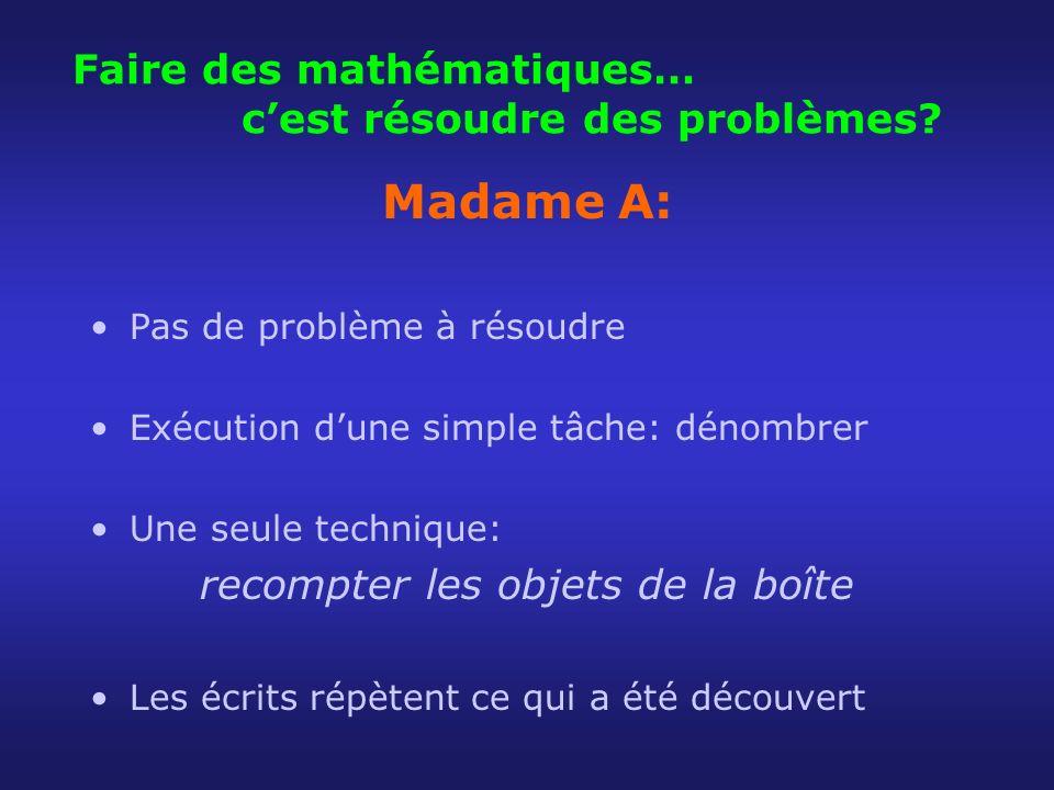 Faire des mathématiques… c'est résoudre des problèmes