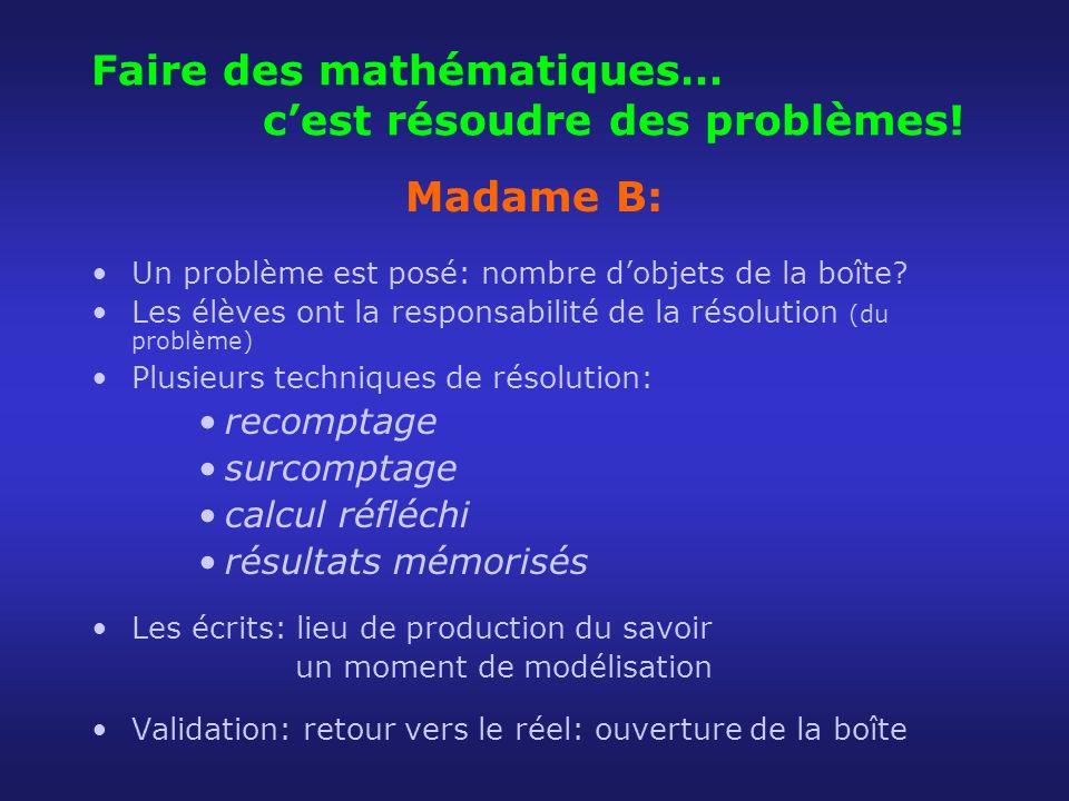 Faire des mathématiques… c'est résoudre des problèmes!