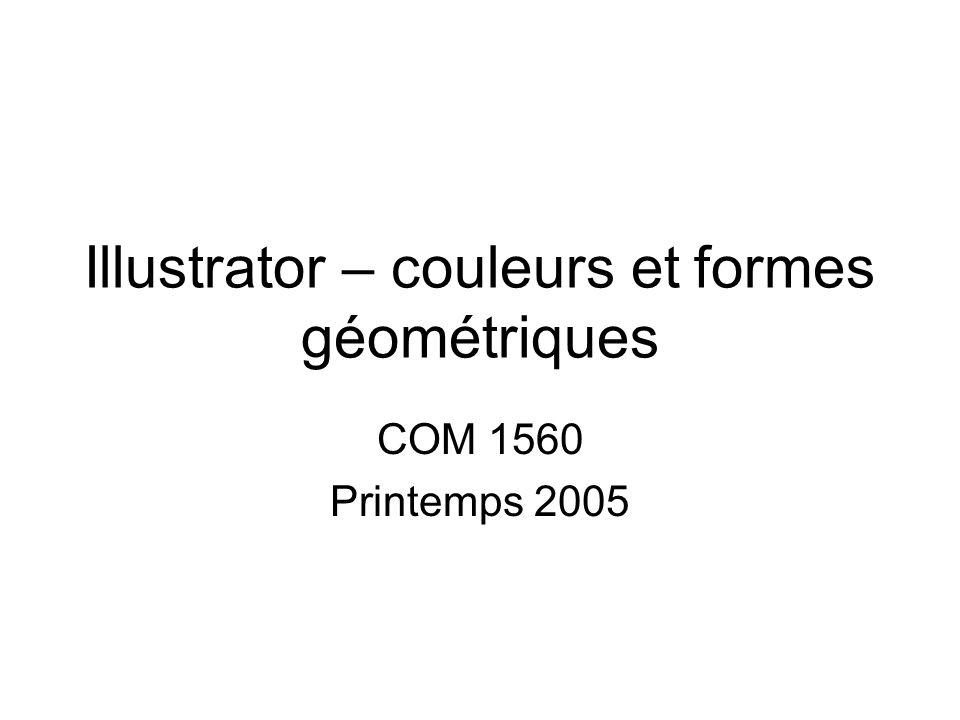 Illustrator – couleurs et formes géométriques