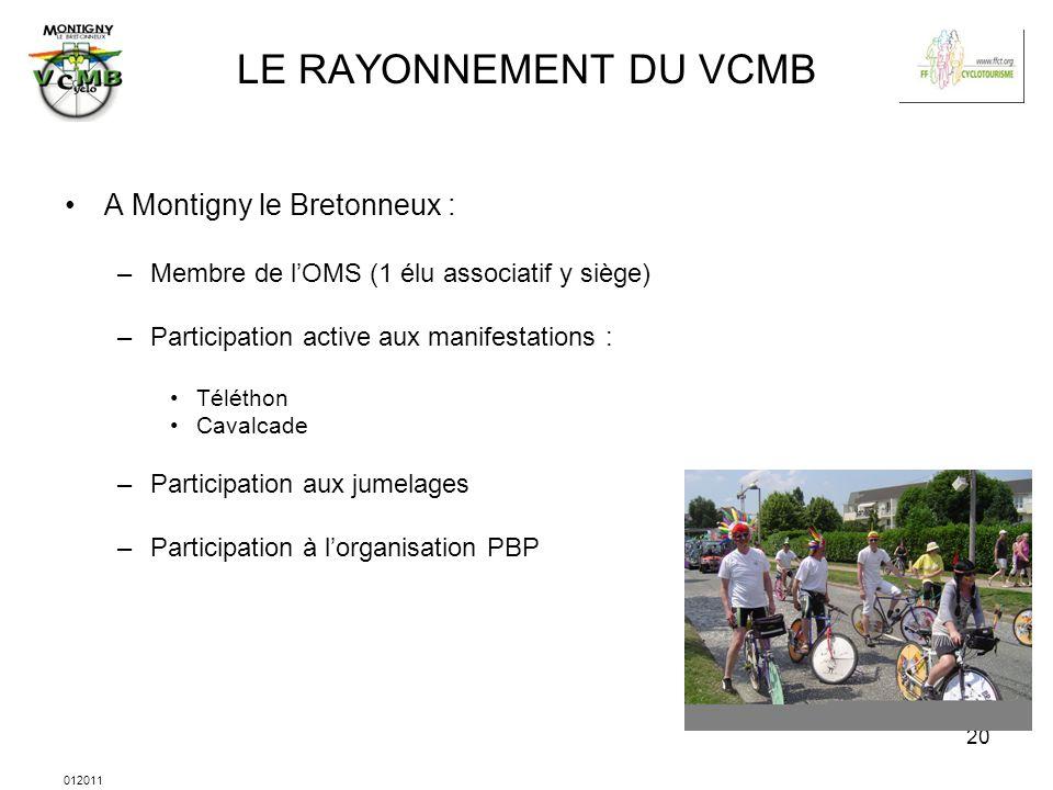 LE RAYONNEMENT DU VCMB A Montigny le Bretonneux :