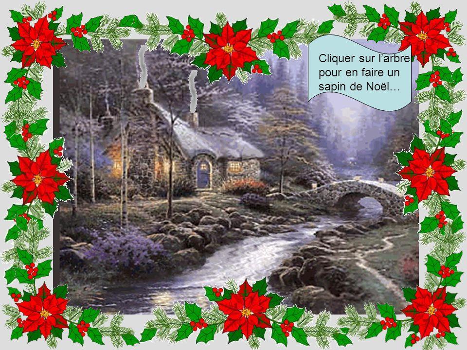 Cliquer sur l'arbre pour en faire un sapin de Noël…