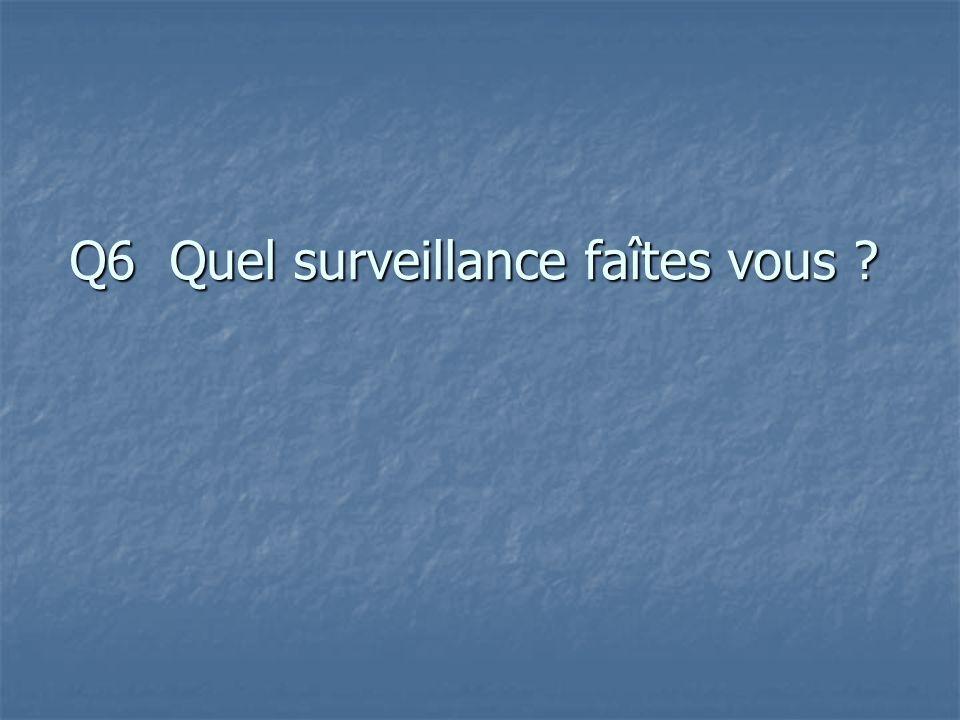 Q6 Quel surveillance faîtes vous