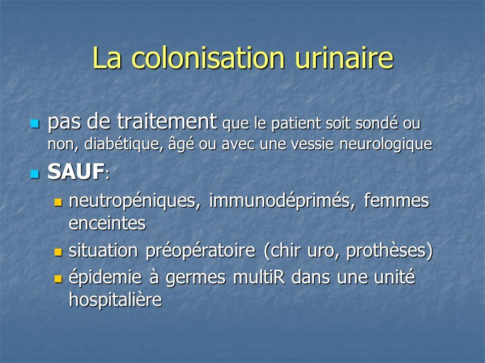 La colonisation urinaire