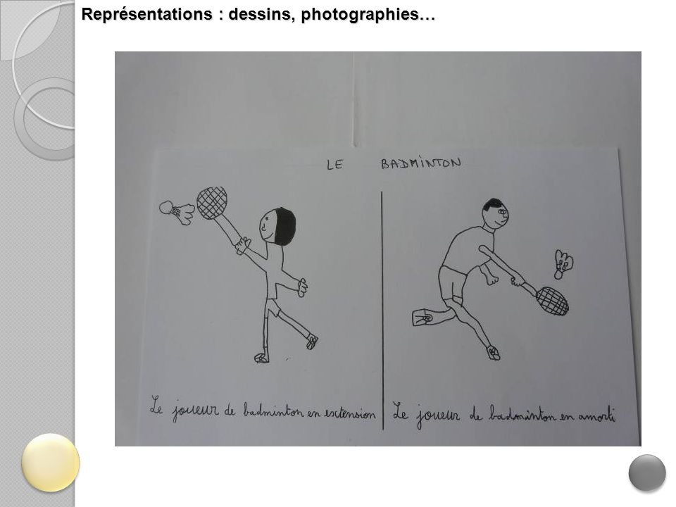 Représentations : dessins, photographies…