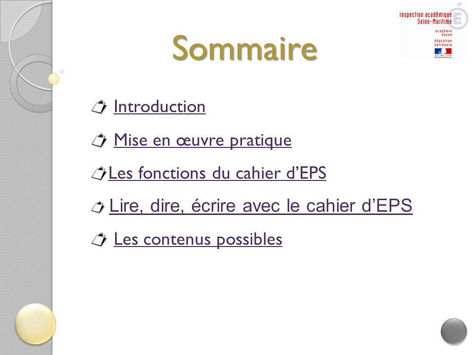 Sommaire  Introduction  Mise en œuvre pratique