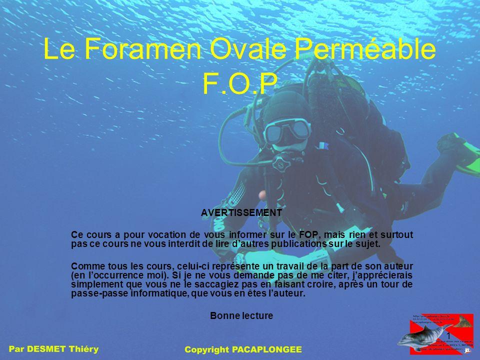 Le Foramen Ovale Perméable F.O.P