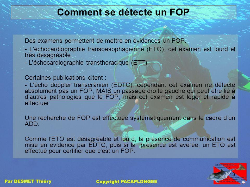 Comment se détecte un FOP
