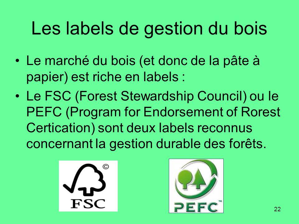 Les labels de gestion du bois